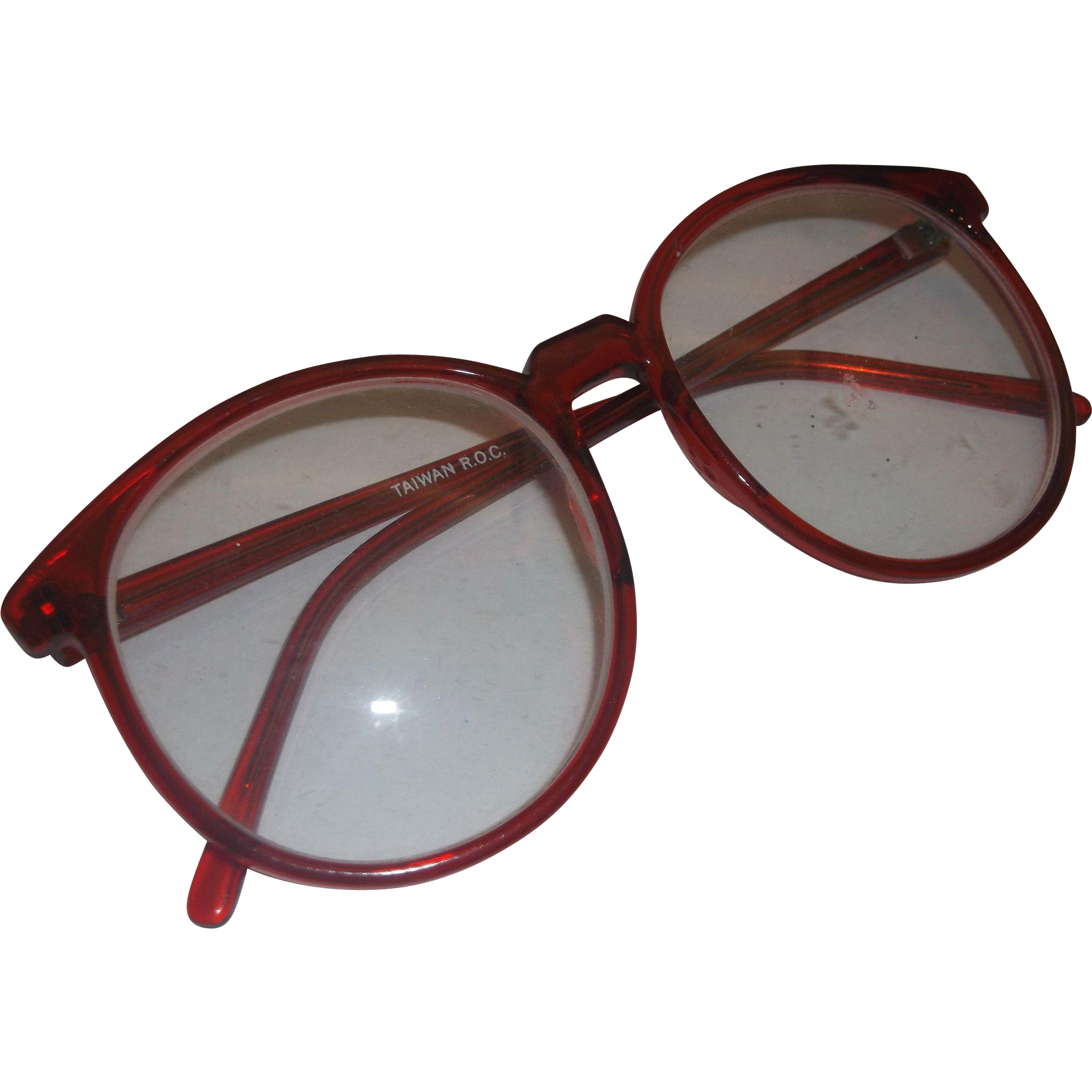 Red Frames Eyeglasses Taiwan 1980s
