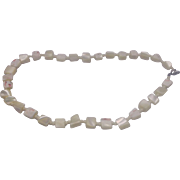 Conch Shell Cream Pink Mottled Nugget Choker Necklaace
