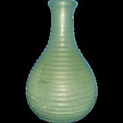 Hocking Vaseline Green Satin Frigidaire Carafe Bottle Glass