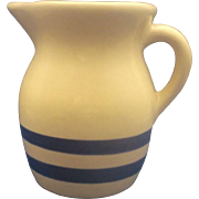 Robinson Ransbottom Blue Stripes Pottery Pitcher 1 Pt Size