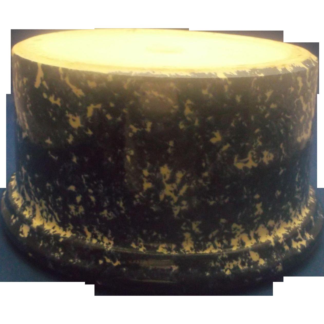 Cobalt Blue Spongeware Sponge Ware Crock Made in Canada