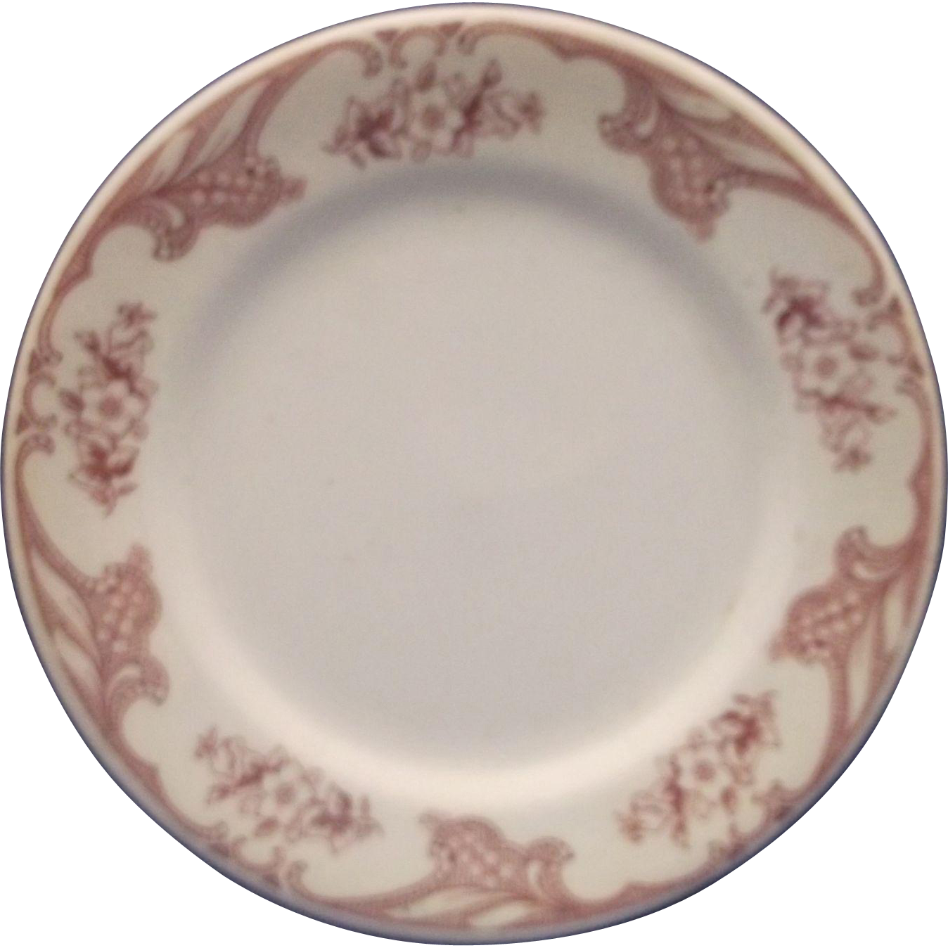 Shenango RimRol Red Flowers Restaurant Ware Bread Plate