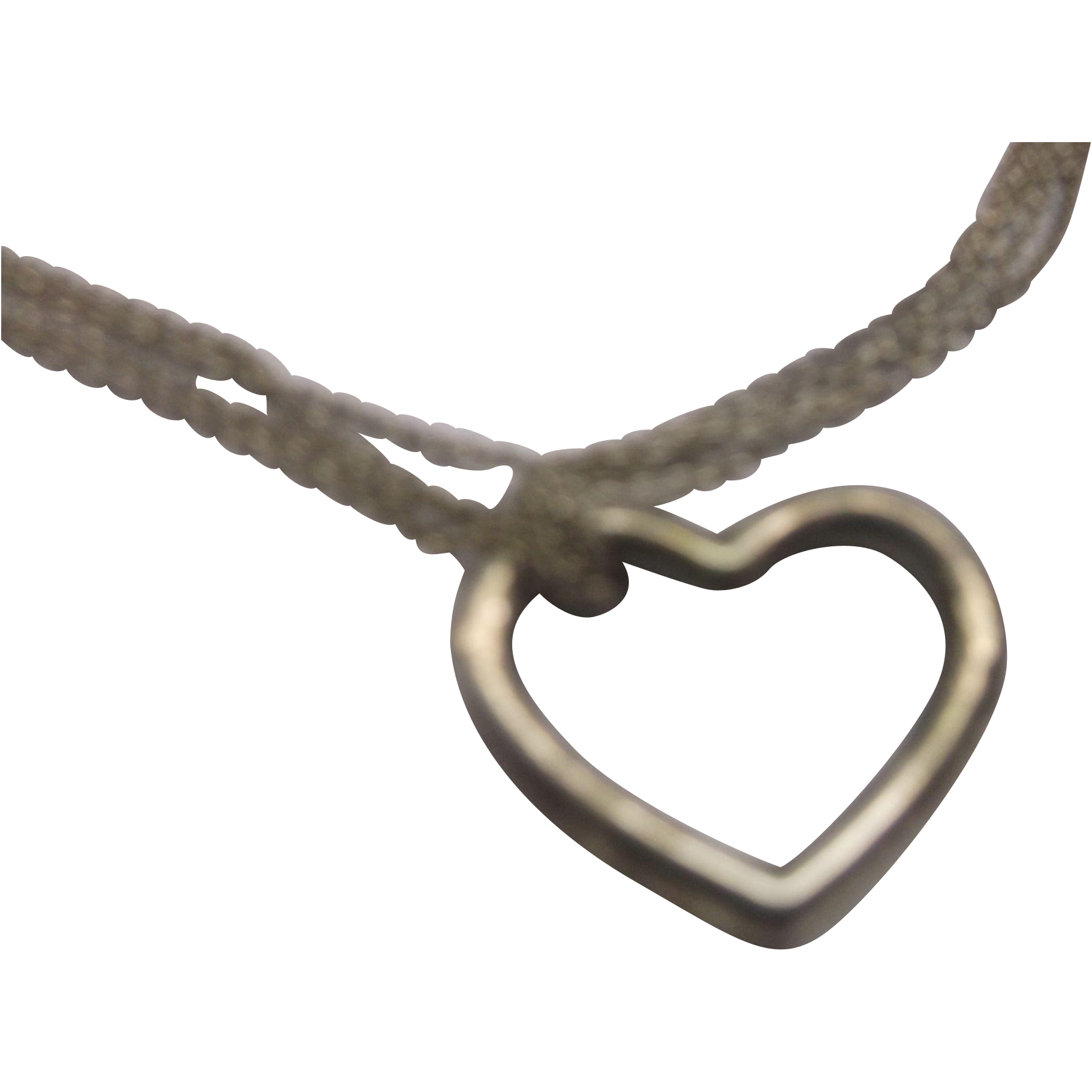 Sterling Floating Heart Pendant Necklace Multi Chains 925 Marked