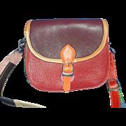 Cute Leather Bright Multi Color Small Crossbody Shoulder Bag Purse
