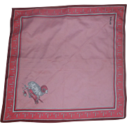 Aries The Ram Zodiac Pink Scarf