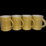 Fire-King Olive Green Ranger Mug Set of 4