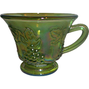 Indiana Glass Harvest Grape Colony Green Carnival Punch Cup