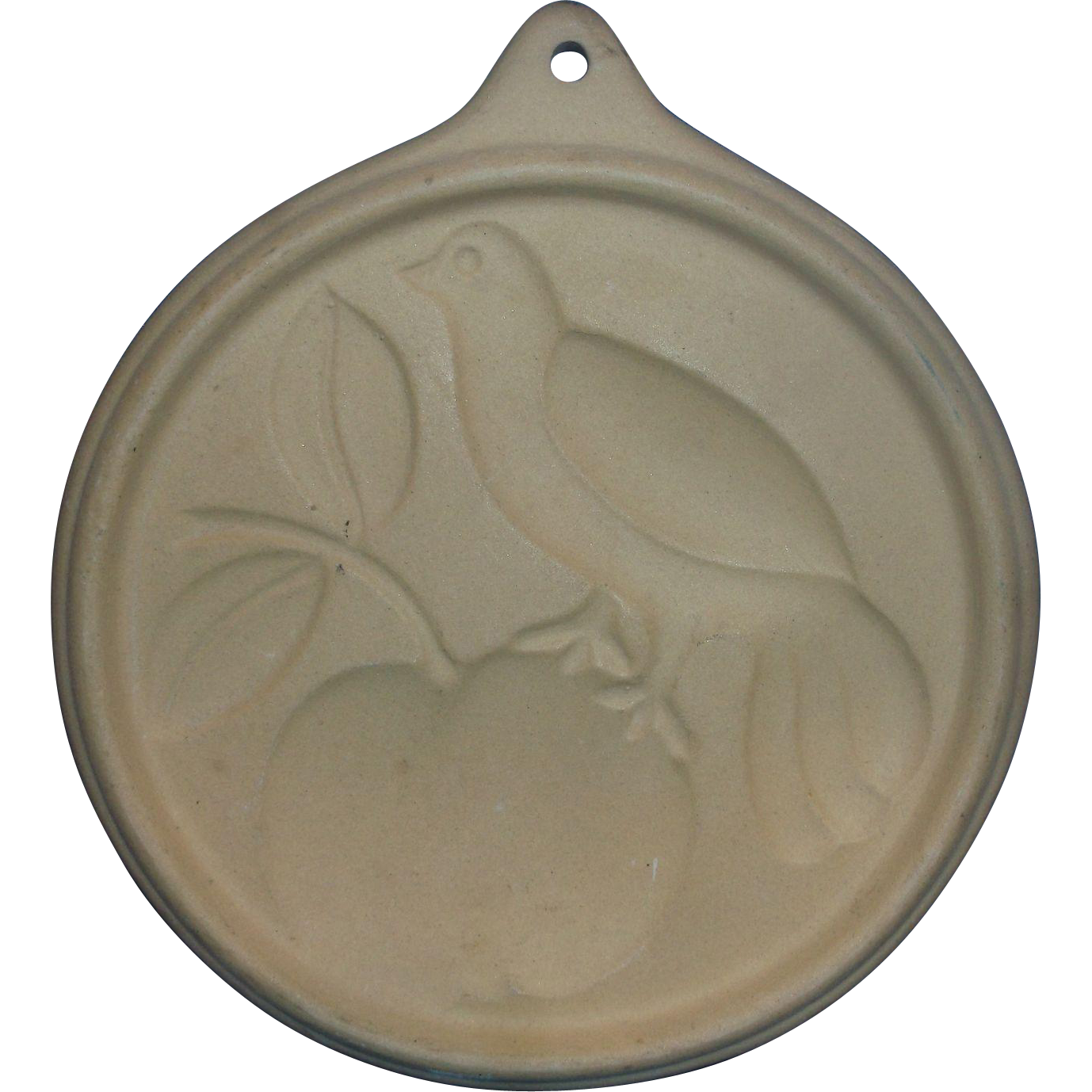 Bird Apple Cookie Mold Stoneware Museum of American Folk Art