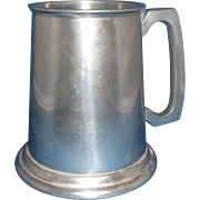 Westminster England Pewter Stein Tankard Glass Bottom