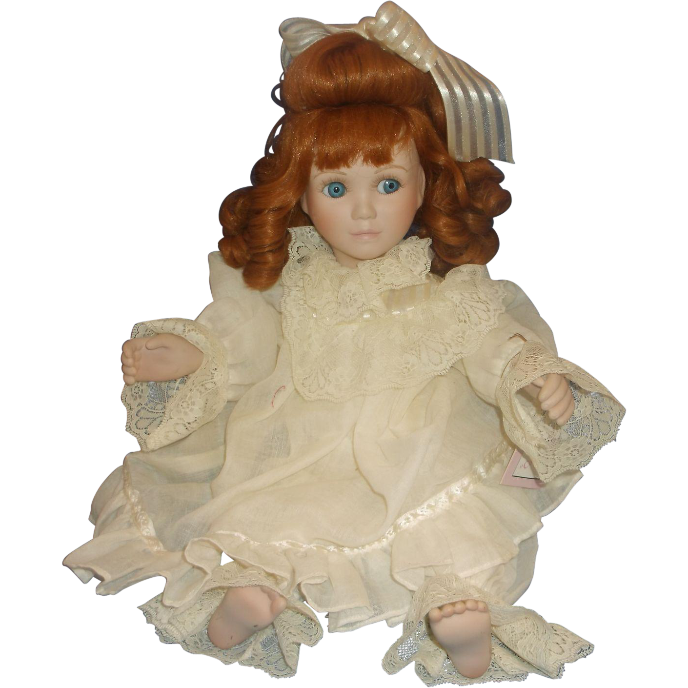 Colleen Red Head Porcelain Doll Victorian Lace Collection Corinne Layton Ashton Drake