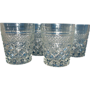 Wexford Anchor Hocking Clear Glass Old Fashioned Tumblers Set of 4
