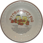 Strawberry Pie Recipe Pie Plate Pan Pottery Korea Hankook