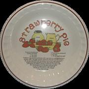 Strawberry Pie Recipe Pie Plate Pan Pottery Korea Hankook