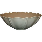 Hocking Vitrock Depression White Milk Glass Oyster Pearl Large Serving Console Bowl