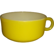Glasbake Yellow Soup Mug