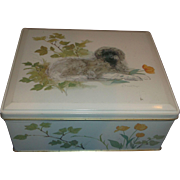 Dog Art Tin Box Hinged Lid Made in England