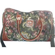 Vintage American Flyer Ovenight Bag Luggage Multi-Color Floral Tapestry Women Luggage Case