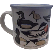Otagiri Stanley Papel Ducks Pottery Coffee Mug Japan
