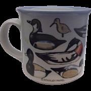 Otagiri Stanley Papel Ducks Pottery Coffee Mug Japan