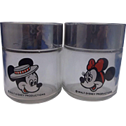Mickey Mouse Minnie Mouse Walt Disney Glass Salt Pepper Shakers Houze Disneyland