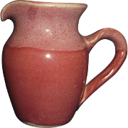 Pink Glazed Hand Made Creamer Old Fort Pottery John Garrou