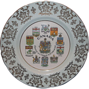 Canada Coats of Arms Emblems Souvenir Bone China Porcelain Plate Paragon England