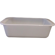 Pyrex White Opal Milk Glass Undecorated Loaf Pan - Red Tag Sale Item