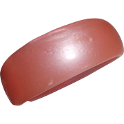 Bubblegum Pink Moonglow Lucite Bangle Bracelet