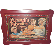 Barnwells Biscuit Assortment Tin Box Much Too Good To Resist Made in England