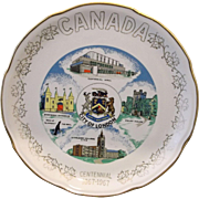 Canada Art China City of London Centennial 1867-1967 Commemorative Souvenir Plate