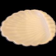 White Milk Glass Shell Shaped Soap Trinket Dish