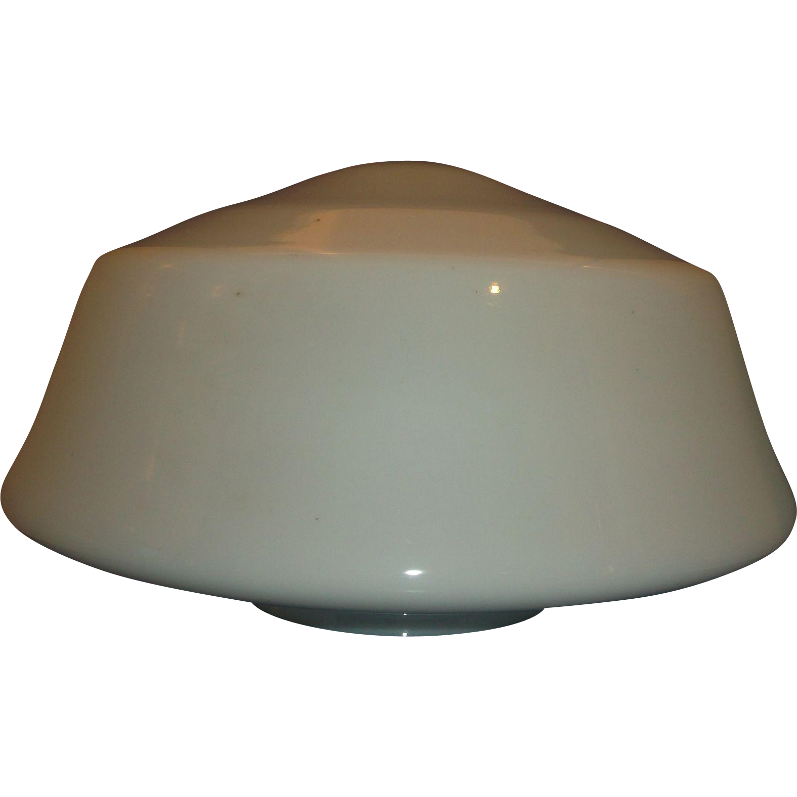 Opal White Milk Glass School Industrial Ceiling Light Globe Shade Huge