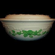 Homer Laughlin Oven Serve Green Roses Covered Casserole 1 Qt