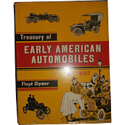 Treasury of Early American Automobiles 1877-1925 by Floyd Clymer Hardback Book Dust Jacket