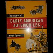 Treasury of Early American Automobiles 1877-1925 by Floyd Clymer Hardback Book Dust Jacket