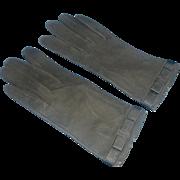 Loewe Black Suede Gloves Ladies Vintage Made in Spain