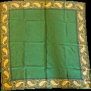 Anne Klein Emerald Green Paisley Silk Scarf