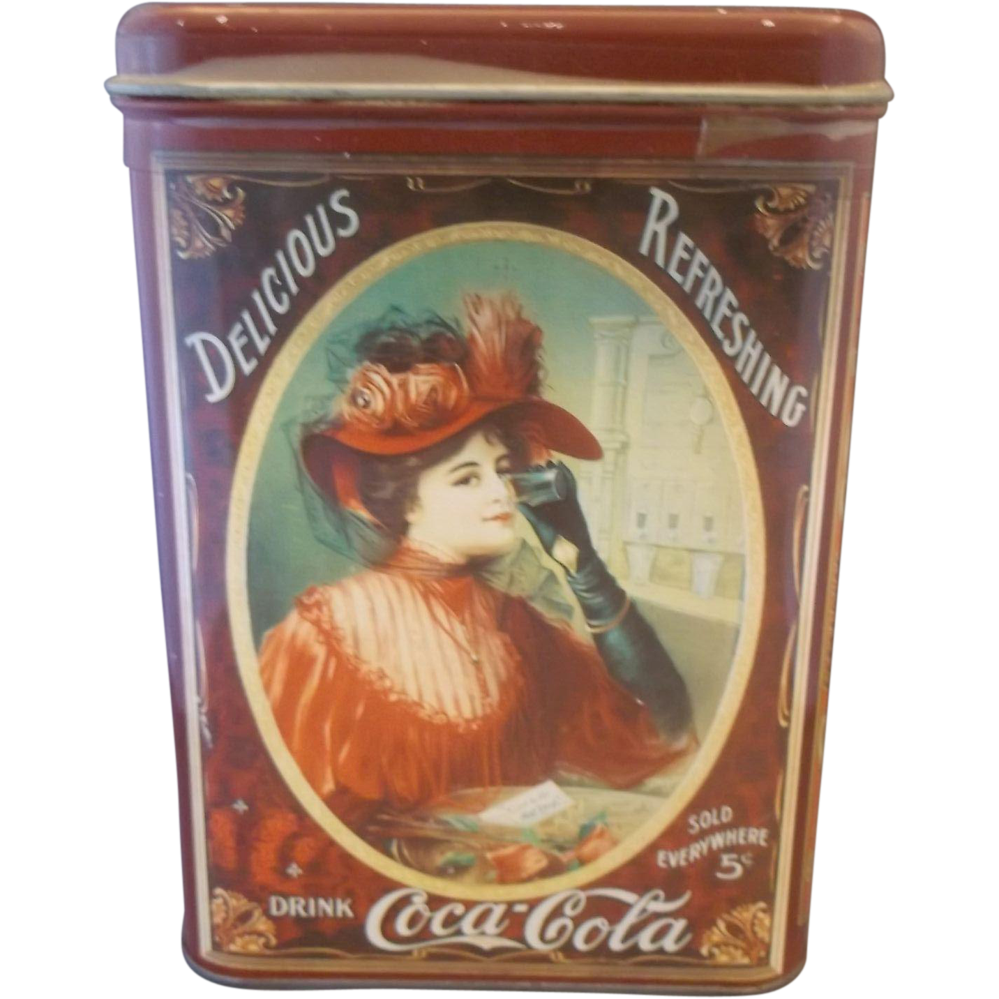 Drink Coca Cola Delicious Refreshing Tin Metal Box