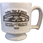 Shipshewana Auction Indiana Onion River Pottery Stoneware Mug 1991