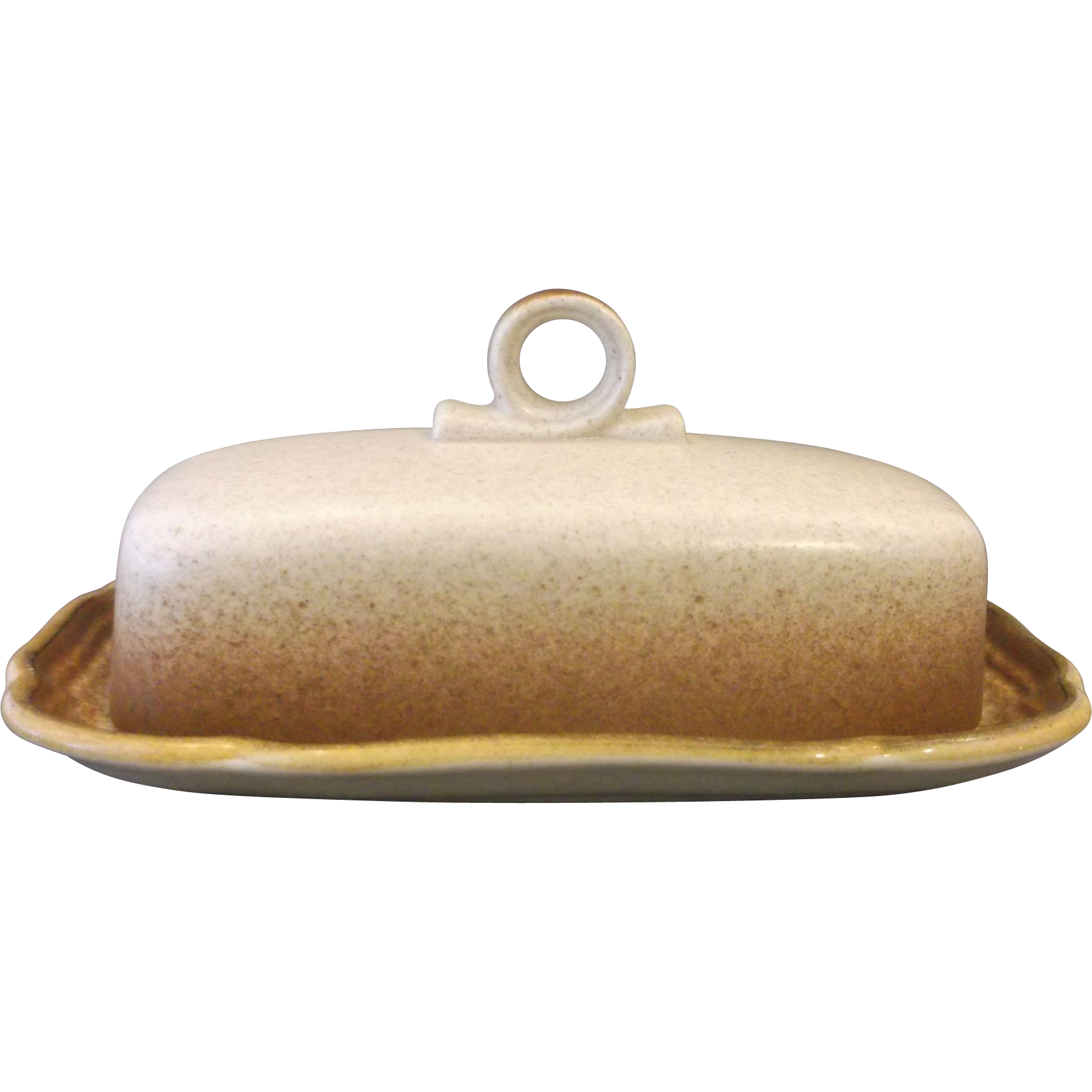 Mikasa Whole Wheat Covered Butter Dish E 8000 1 Stick Quarter LB