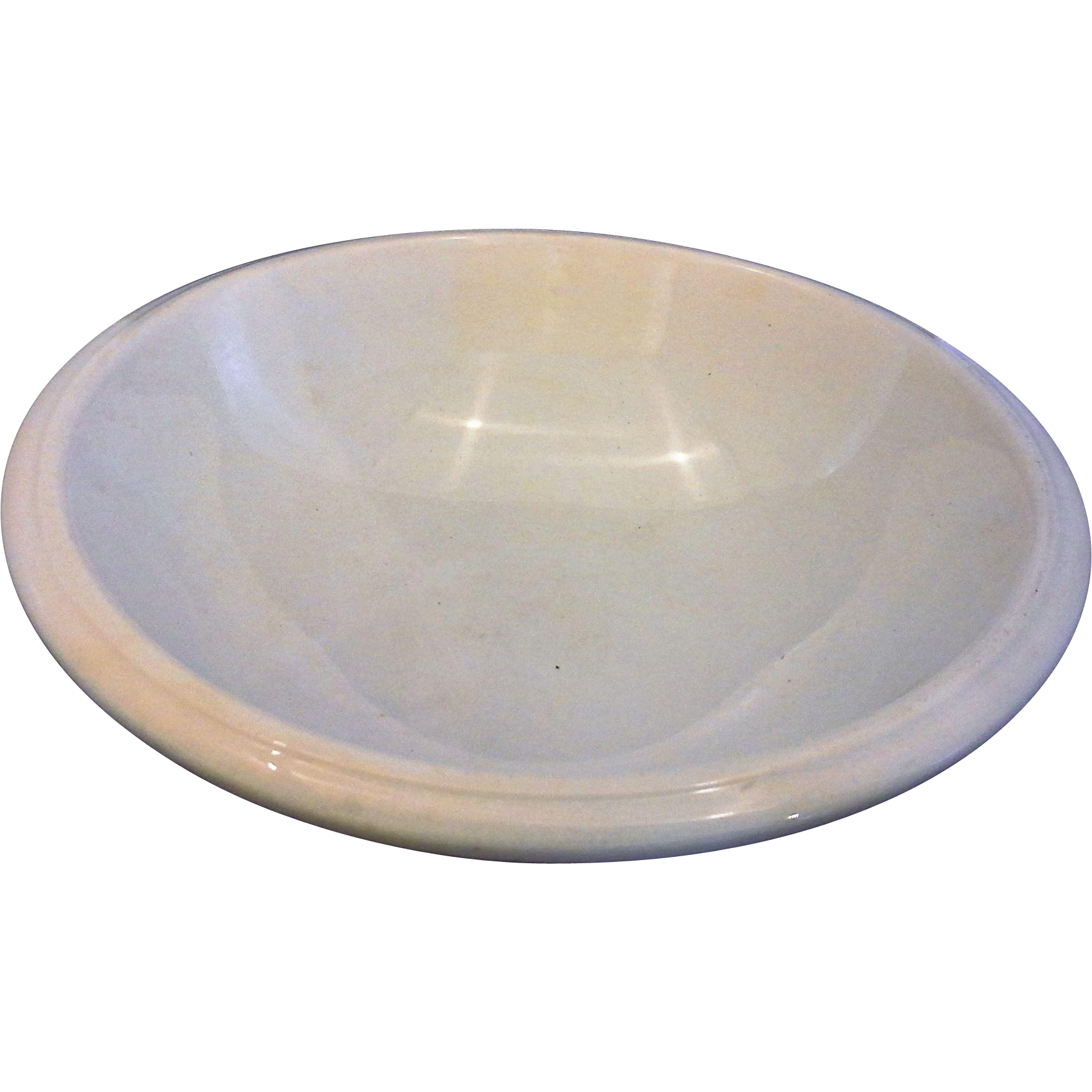 William Brunt WB Jr & Co White Ironstone Basin Bowl Antique 1880s 14 IN