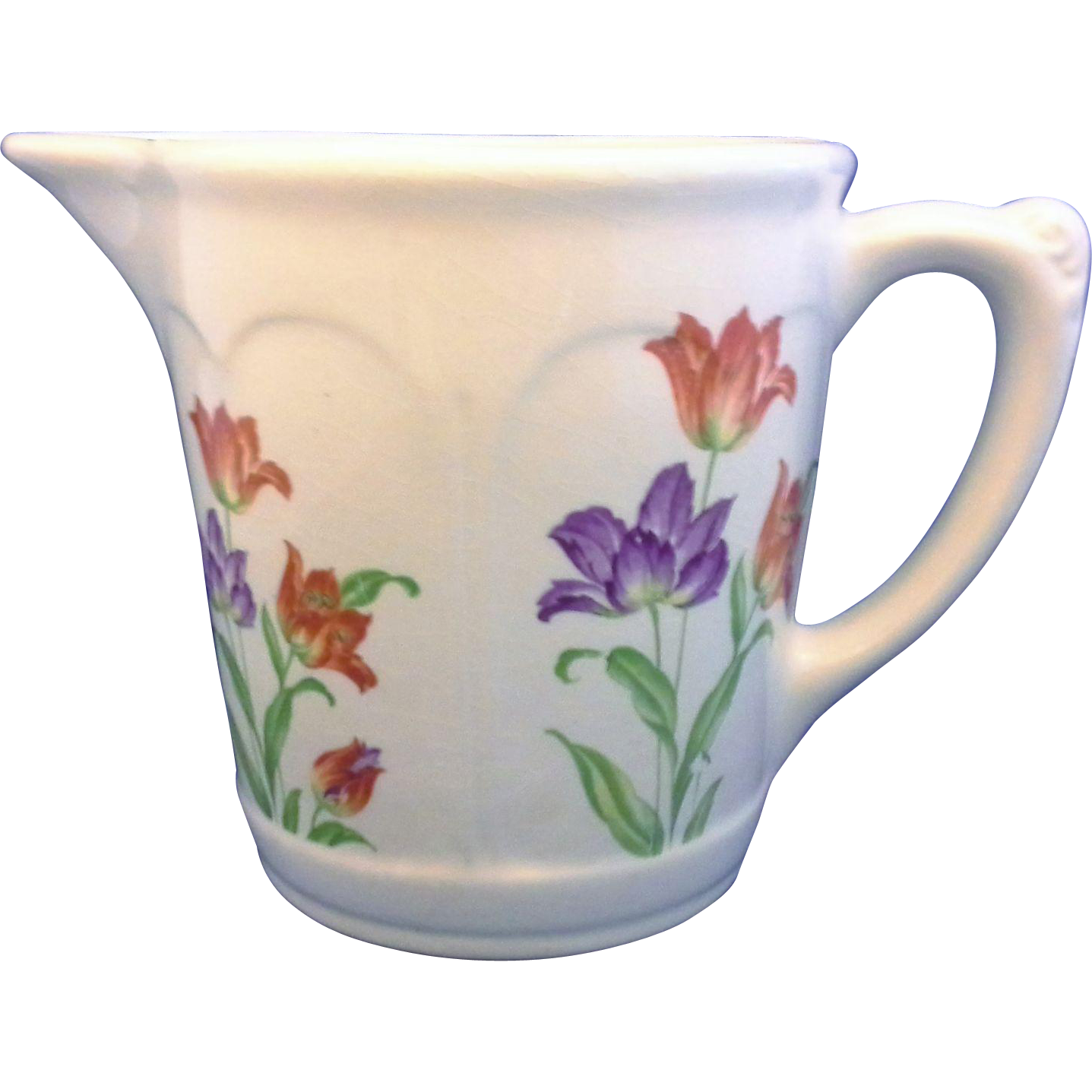 Harker Pottery Hotoven Tulips Pitcher