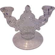Cambridge Rose Point Keyhole Double Light Candle Holder 3400/647