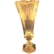 Fostoria Coin Glass 8 In Bud Vase Clear Glass