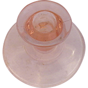 Pink Depression Glass Single Light Candle Holder Taper Candlestick