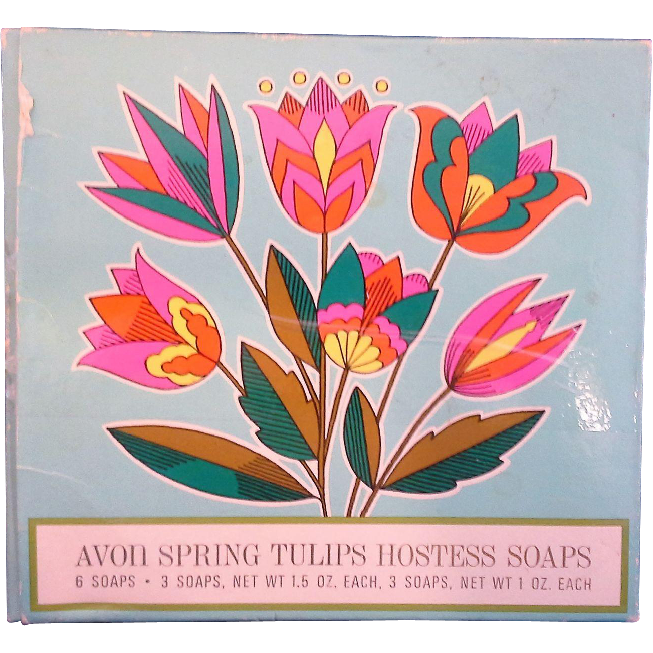 Avon Spring Tulips Hostess Soaps 1970 Mint In Box