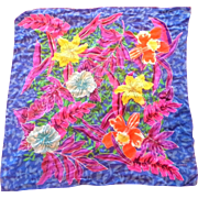 Liz Claiborne Bright Tropical Floral Silk Scarf