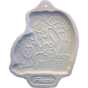 Longaberger Peace Angel Cookie Mold 1993
