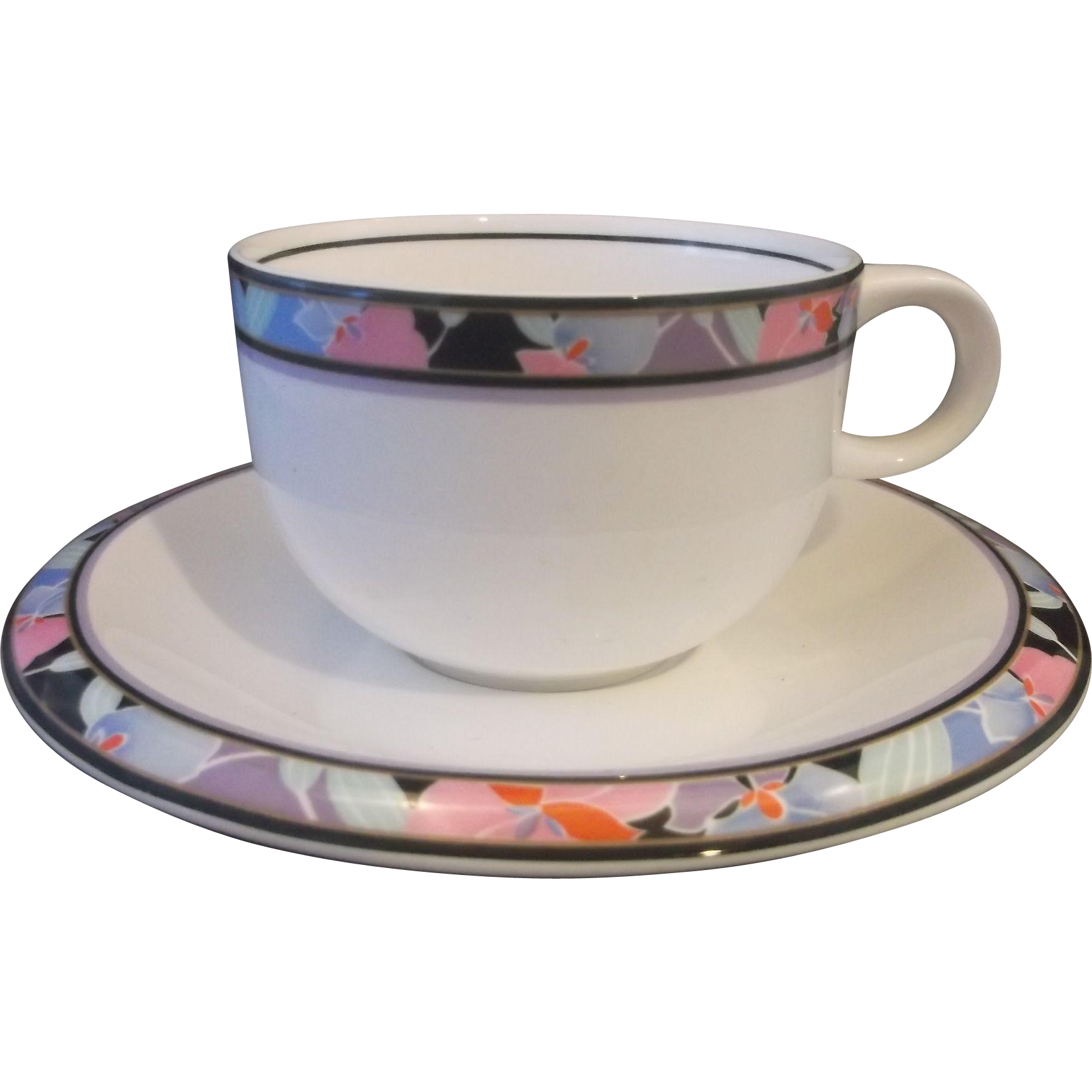 Mikasa Deco Art Jack Lenor Larsen Ultima Porcelain Plus Cup Saucer