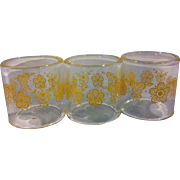 Pyrex Corelle Coordinates Butterfly Gold Napkin Rings Set of 3